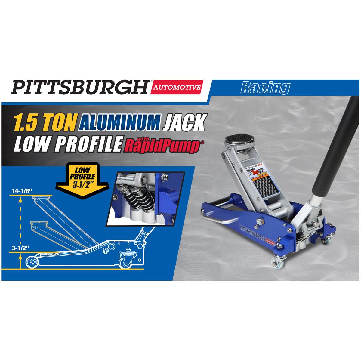 15 Ton Aluminum Racing Floor Jack With Rapid PumpR