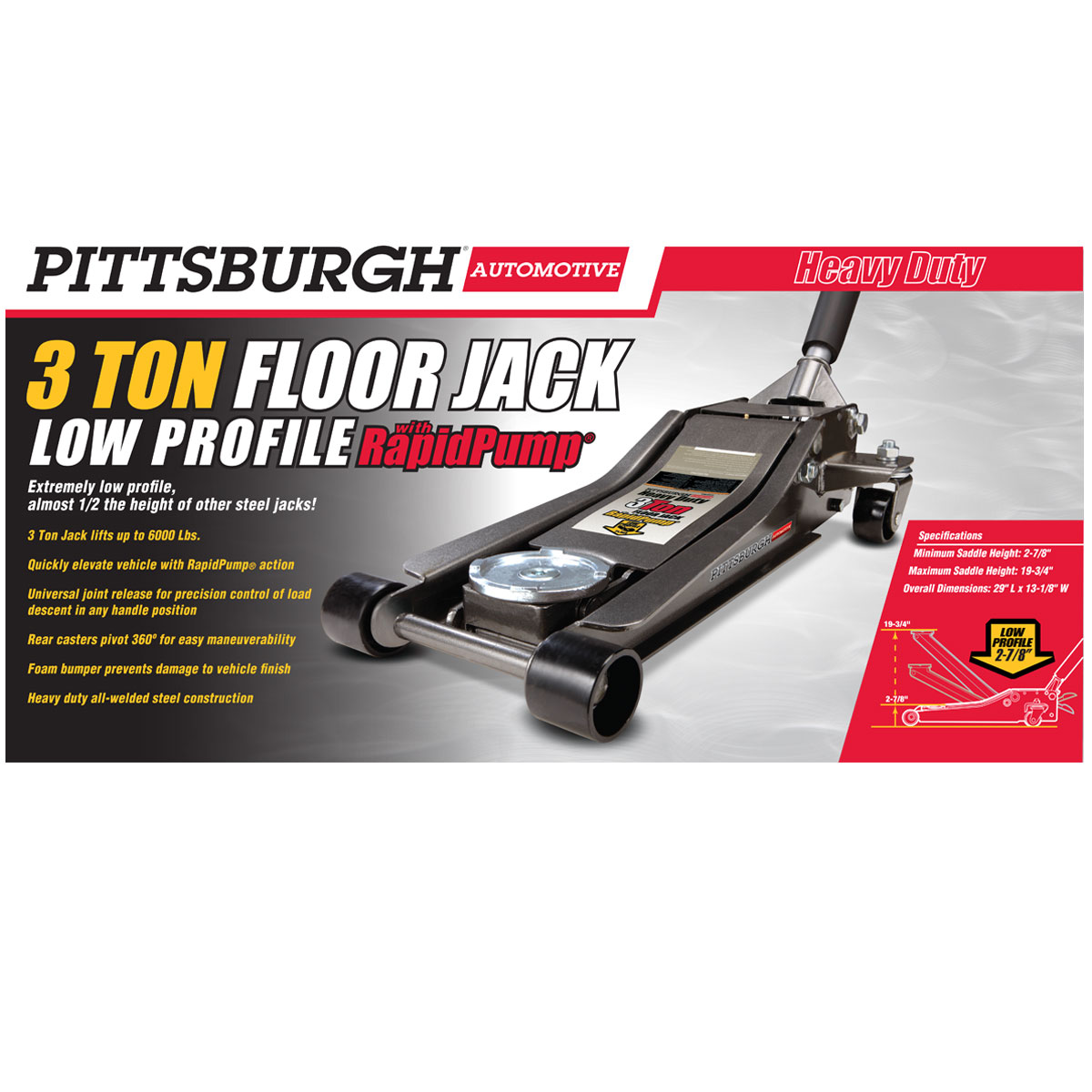 Low Profile Heavy Duty Car Jack