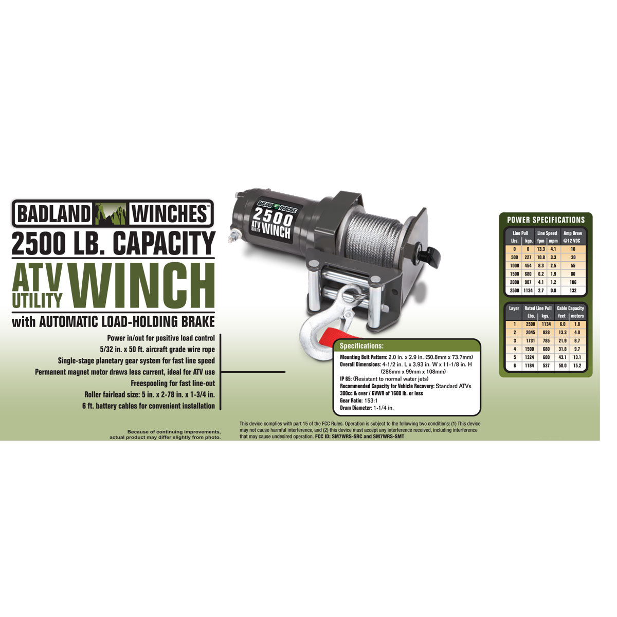 badland winch wiring diagram 2500 lb. atv/utility electric winch with wireless remote ... 2500 lb badland winch wiring diagram