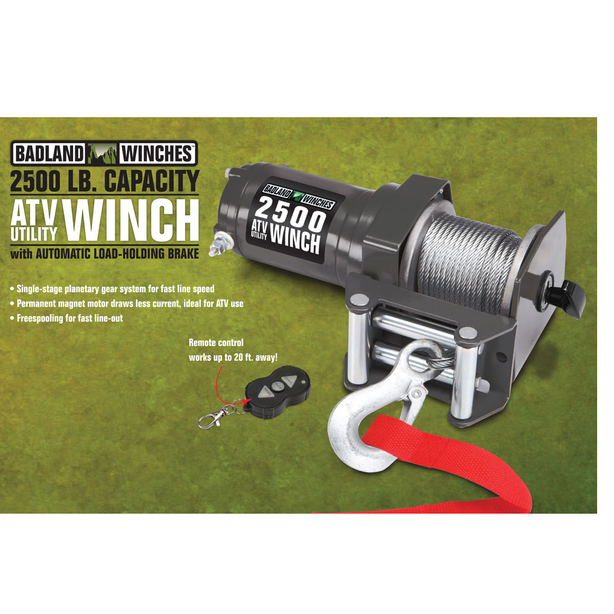 2500 lbs atv utility electric winch with wireless remote control rh harborfreight com