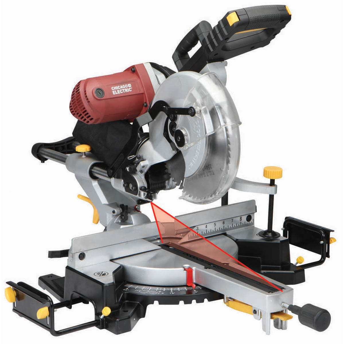 12 in double bevel sliding compound miter saw with laser guide system