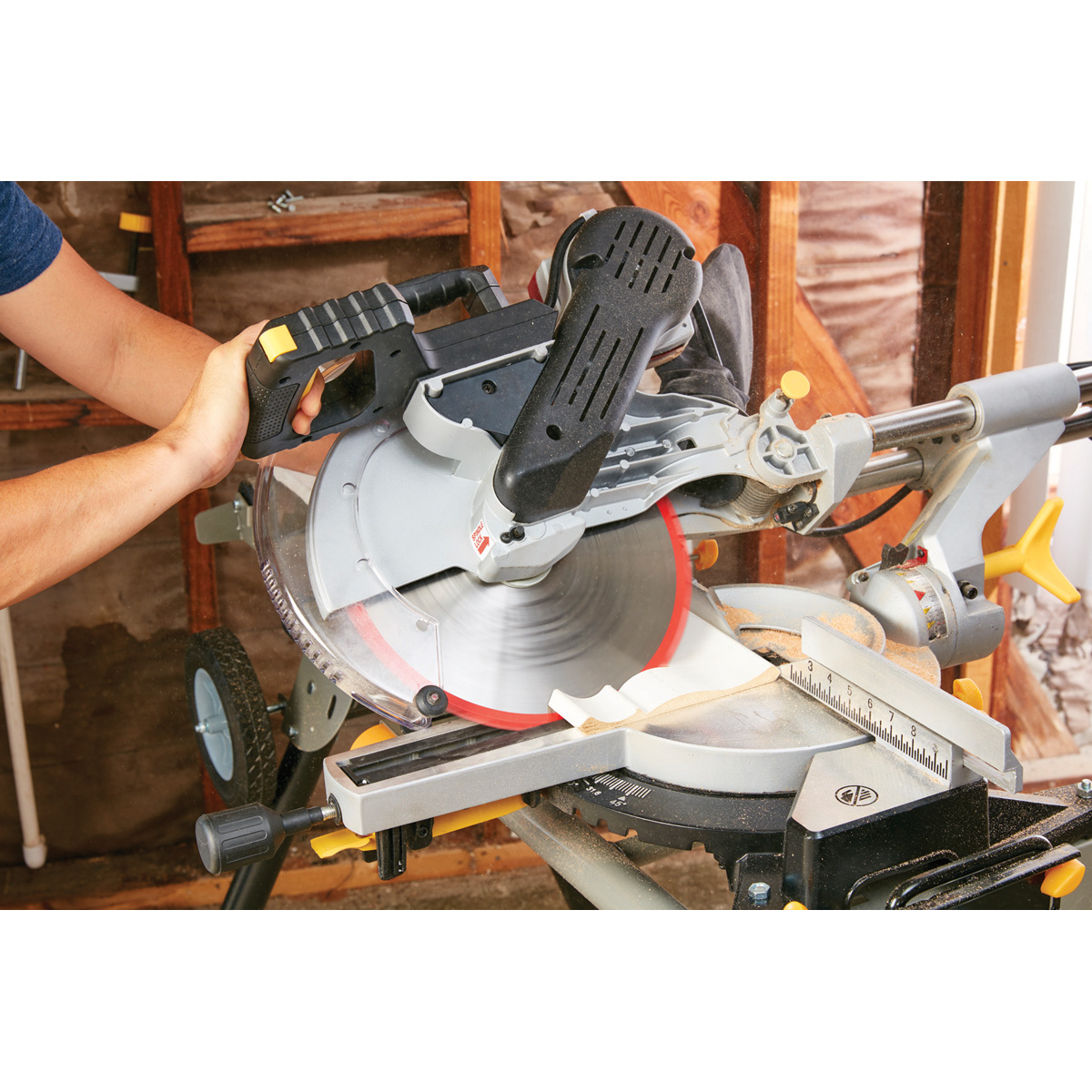 12 in double bevel sliding compound miter saw with laser guide system double bevel sliding compound miter saw with laser guide system keyboard keysfo Choice Image