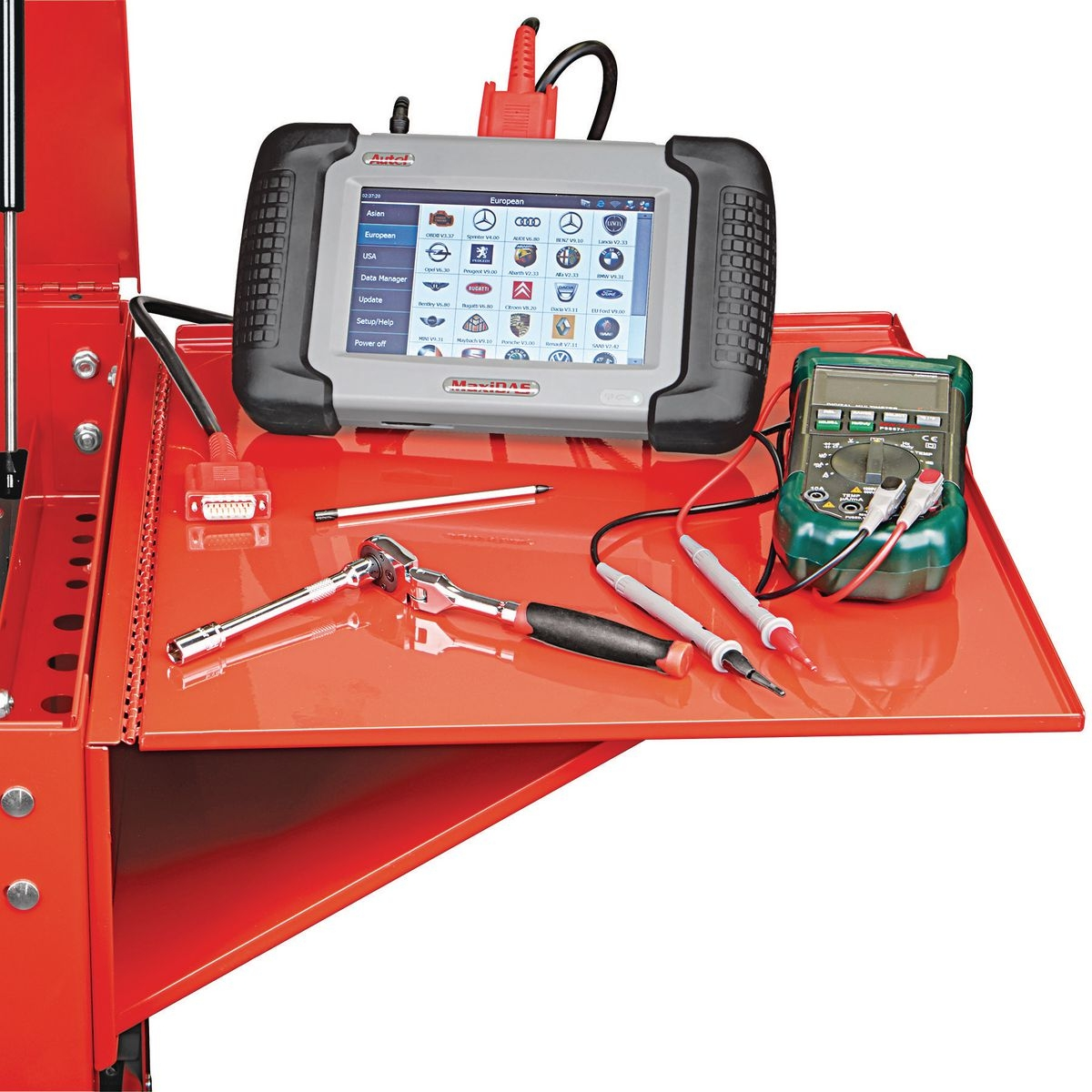 Folding Side Tray For Red Tool Cart
