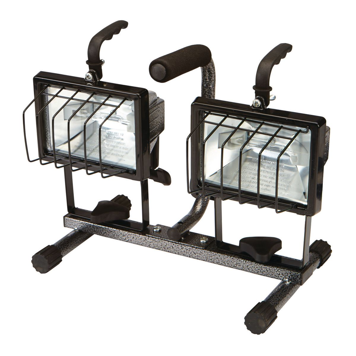 Dual Head Pivoting Work Light With Stand