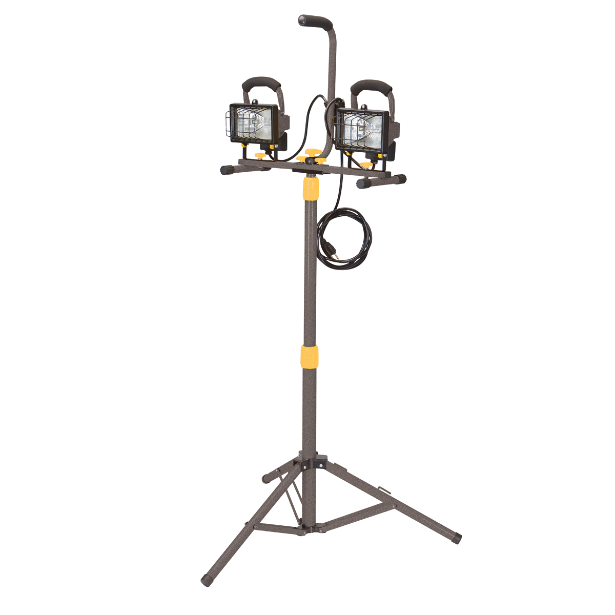 The Portable Halogen Shop Light from Harbor Freight Tools delivers watts of bright light to your workspace when handling a variety of jobs. Indoors or outdoors, this item is easily adjustable to degrees so you can achieve the ideal lighting positon while painting, plumbing, remodeling, and more.