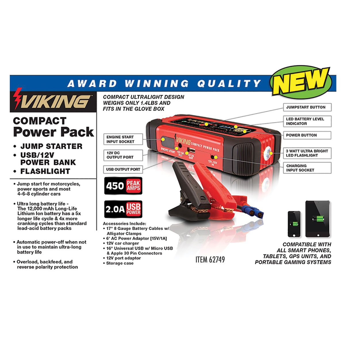 Lithium Ion Jump Starter And Power Pack Automatic Switching For Battery 8211 Usb Connection