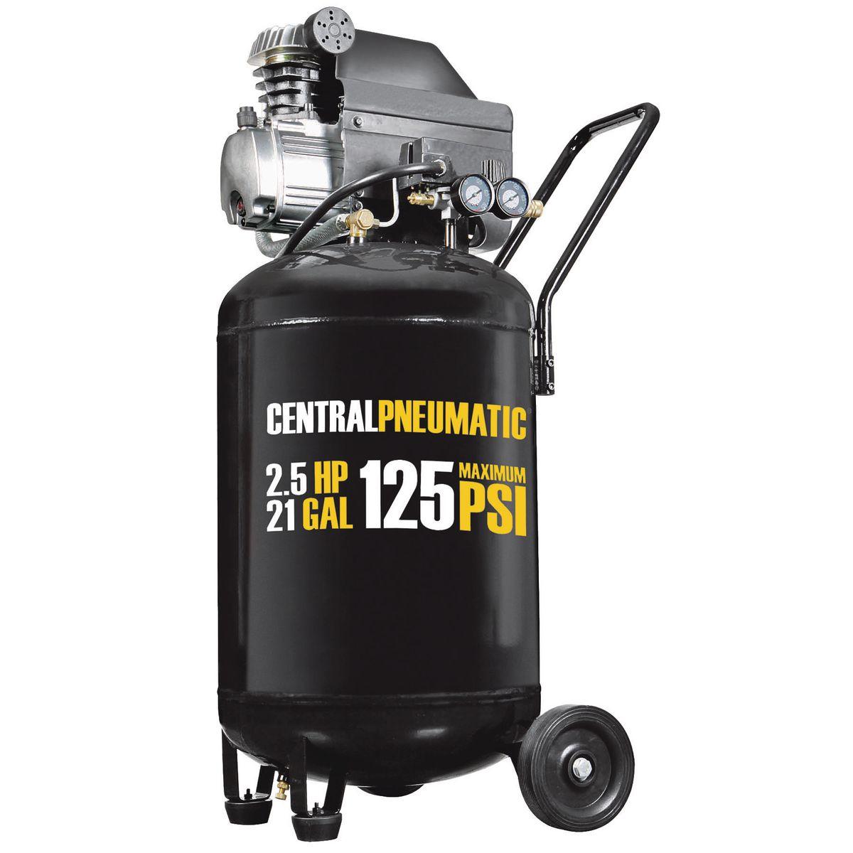 21 Gal 2 1 2 Hp 125 Psi Cast Iron Vertical Air Compressor