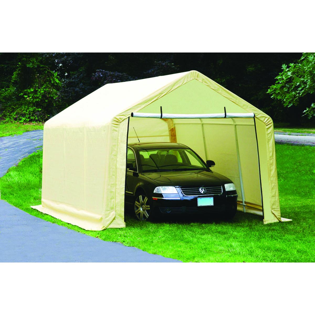 10 ft x 17 ft portable garage - Coibentare porta garage ...