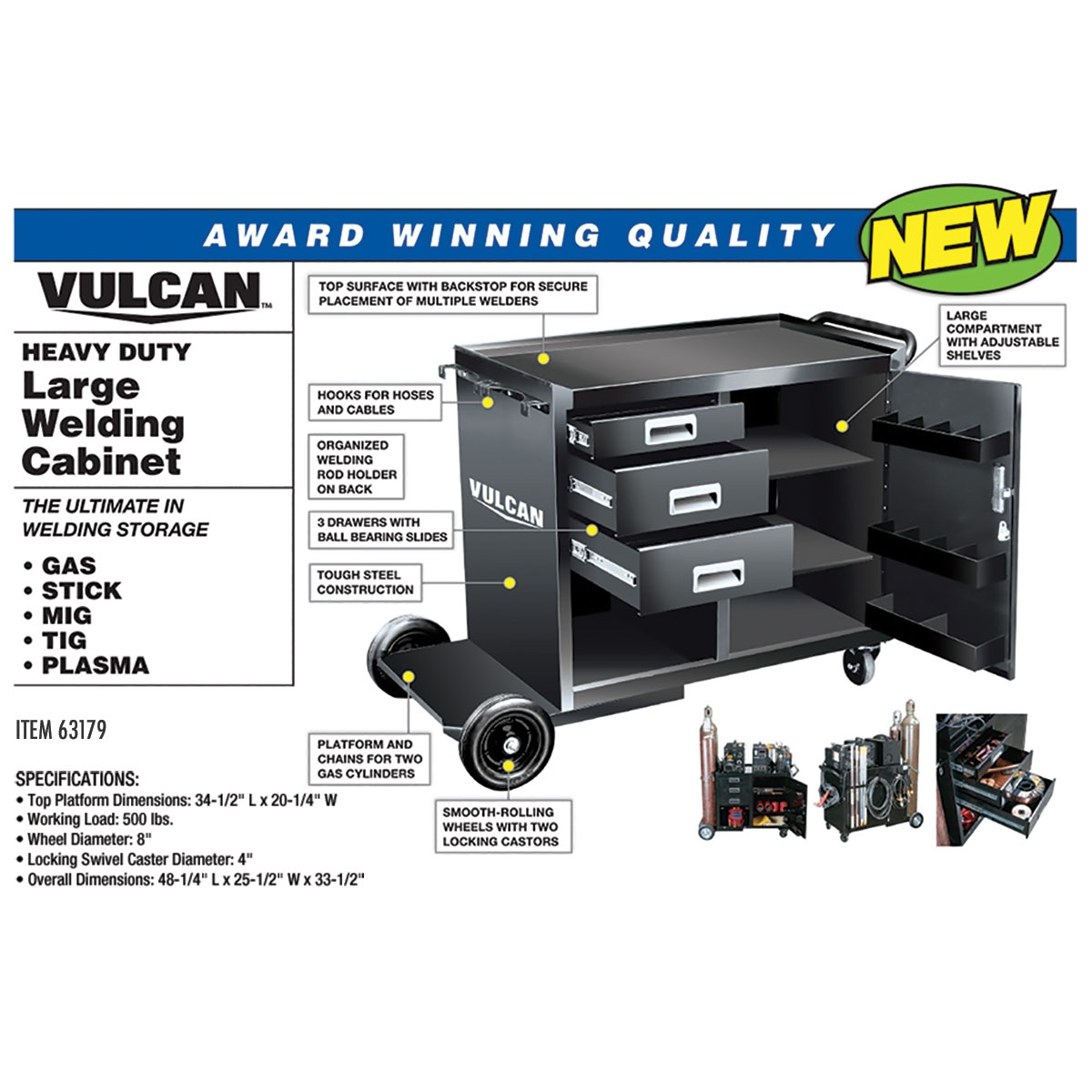 Harbor Freight Catalog : Heavy duty large welding cabinet