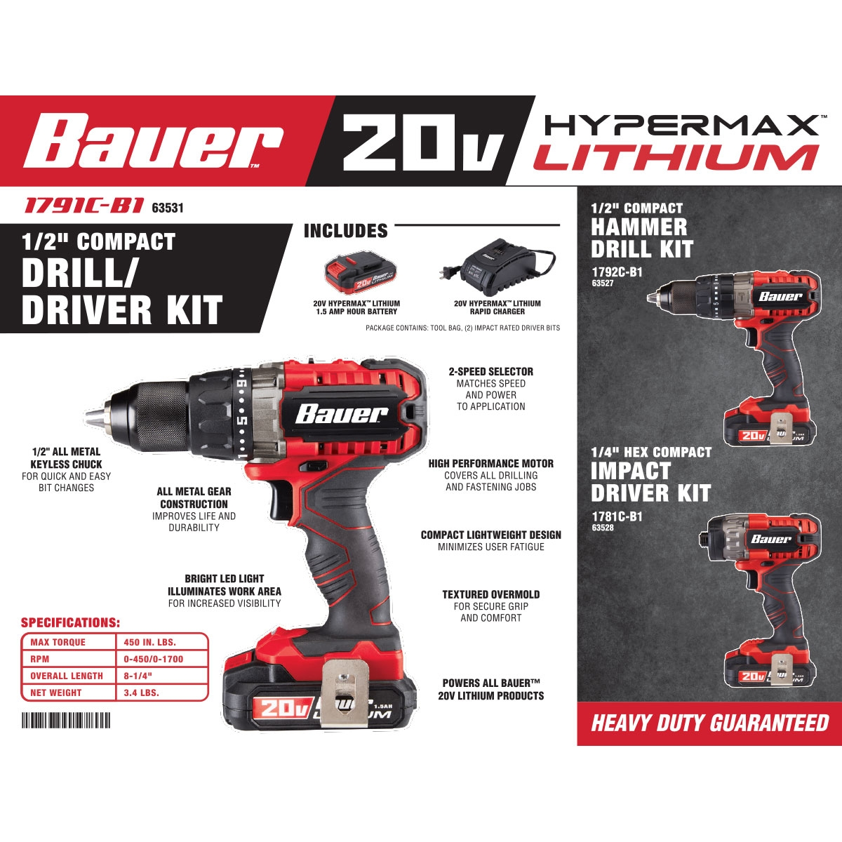 20v Hypermax Lithium 12 In Drilldriver Kit