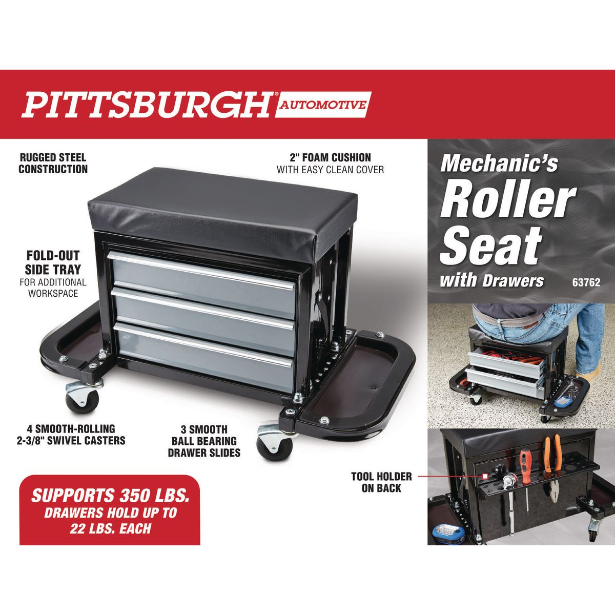 Mechanic S Roller Seat With Drawers