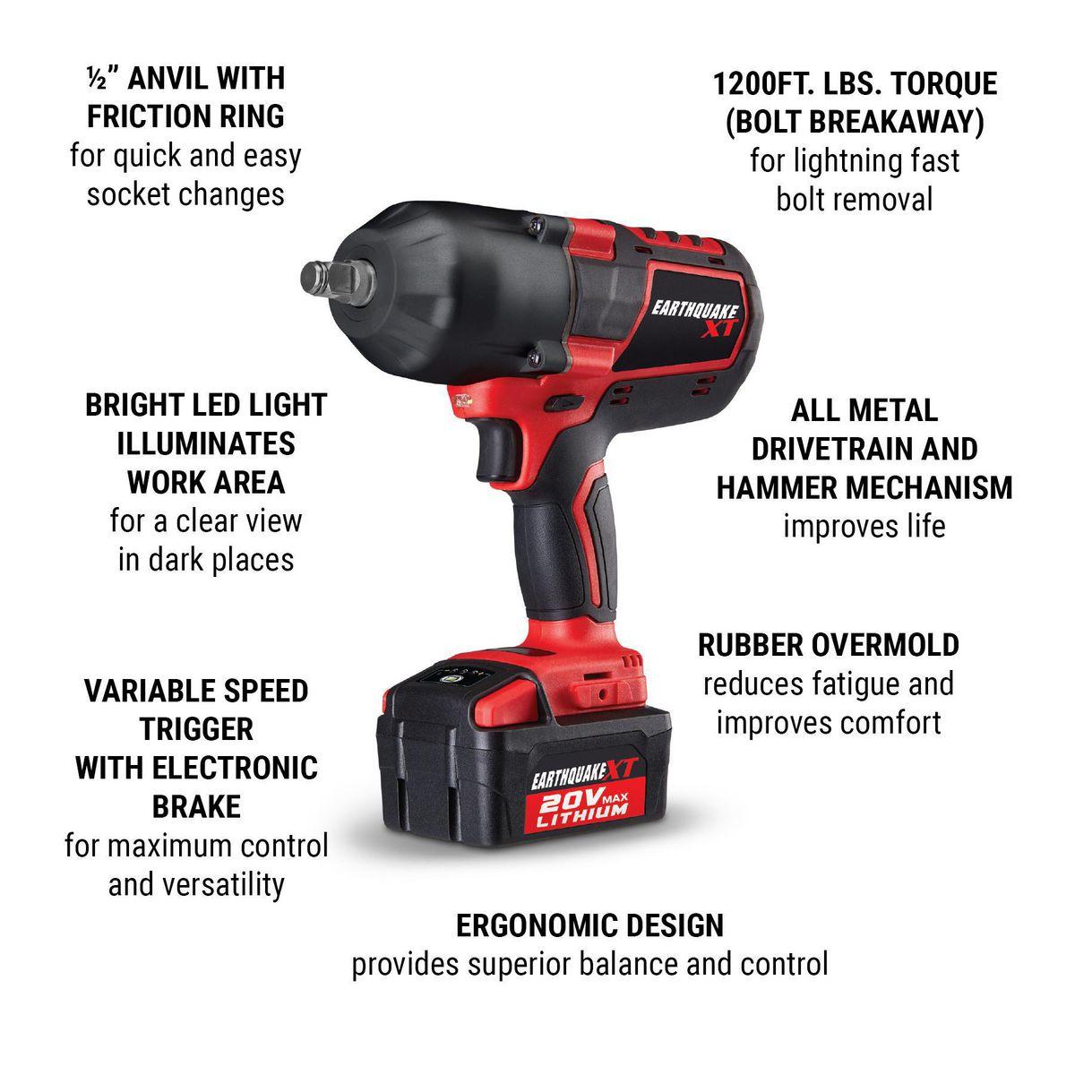 Cordless Xtreme Torque Impact Wrench Kit