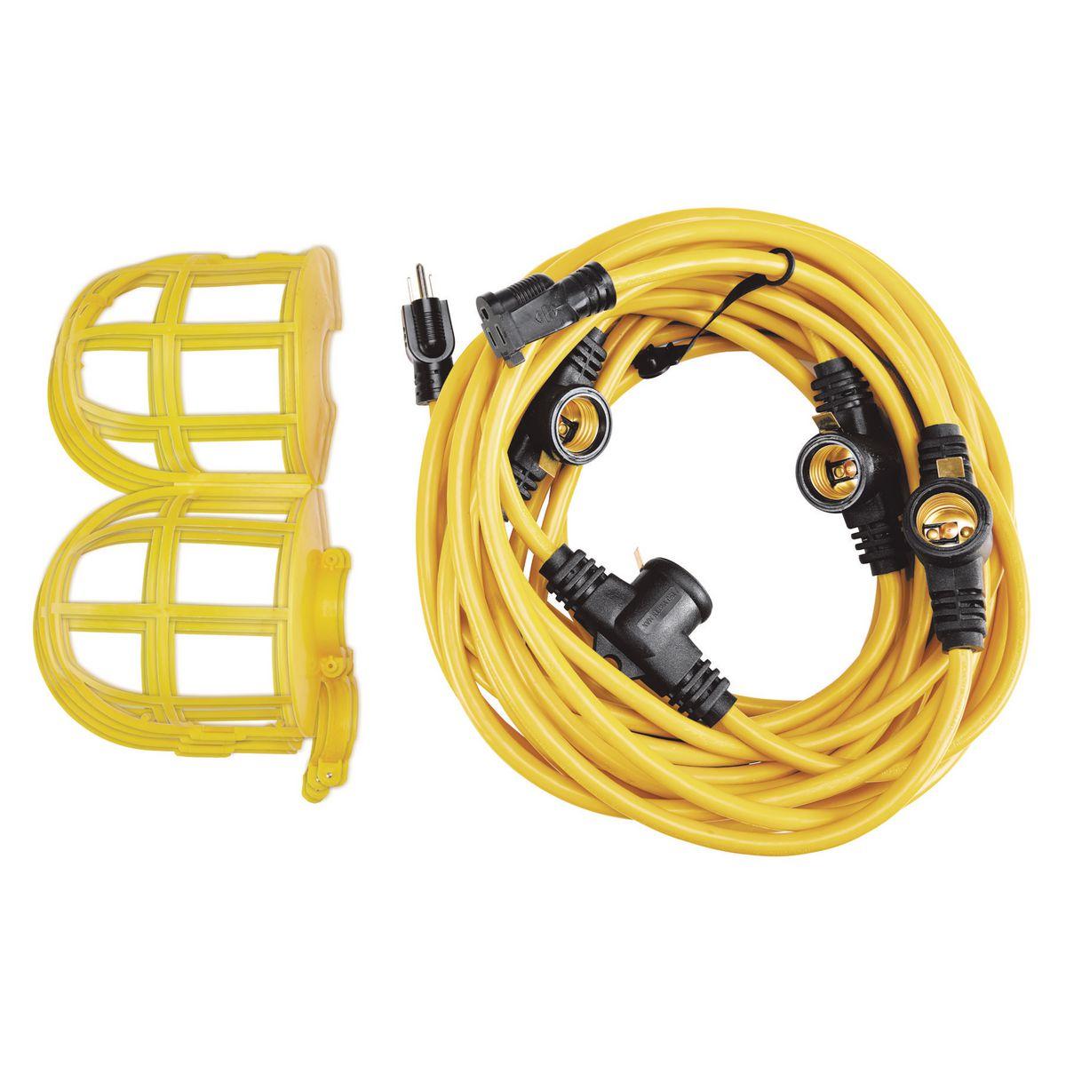 50 Ft 5 Bulb Jobsite Light String