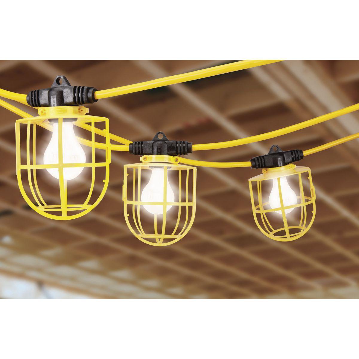 Patio Lights Harbor Freight: 50 Ft. 5 Bulb Jobsite Light String
