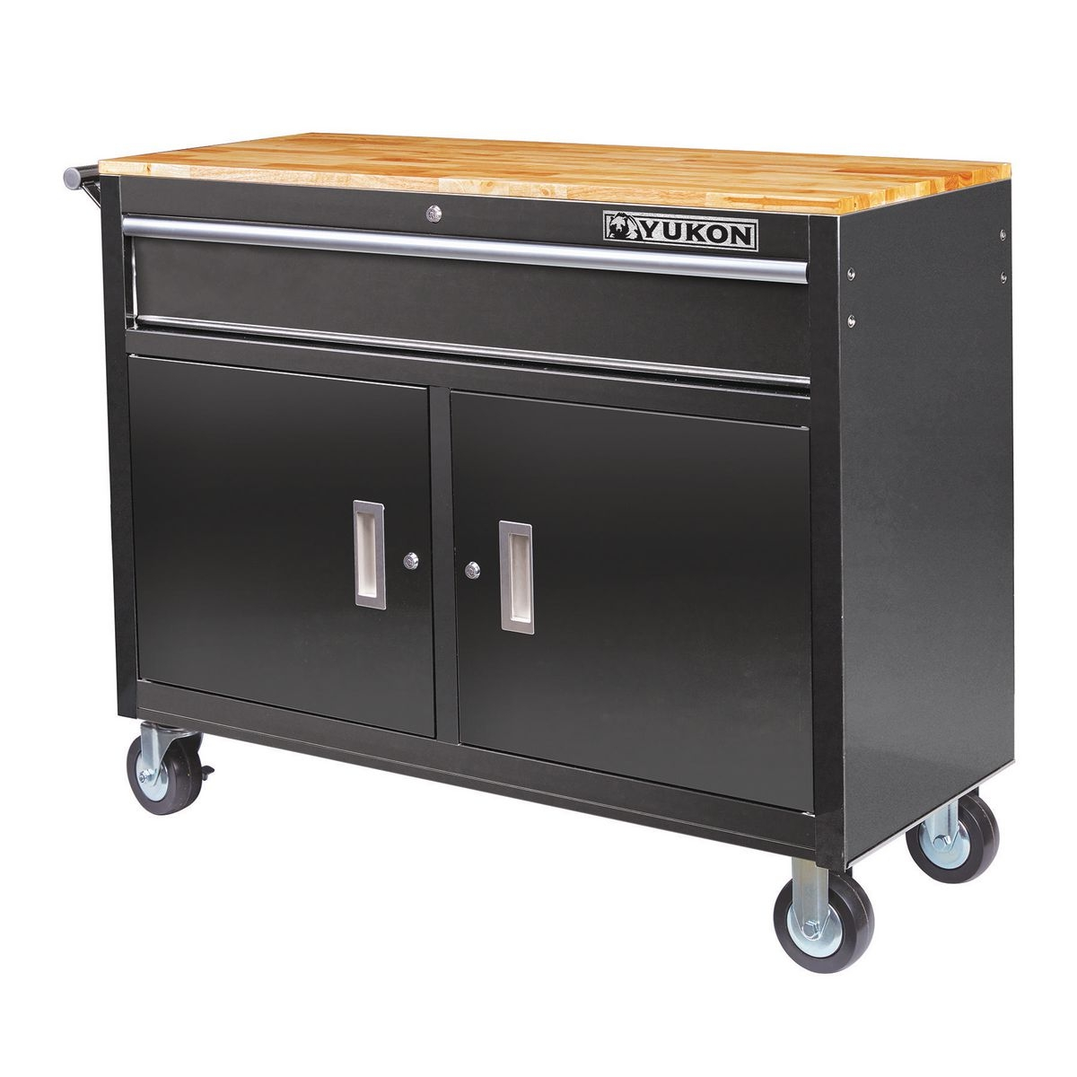 330d31cbc0 46 in. Mobile Storage Cabinet with Wood Top