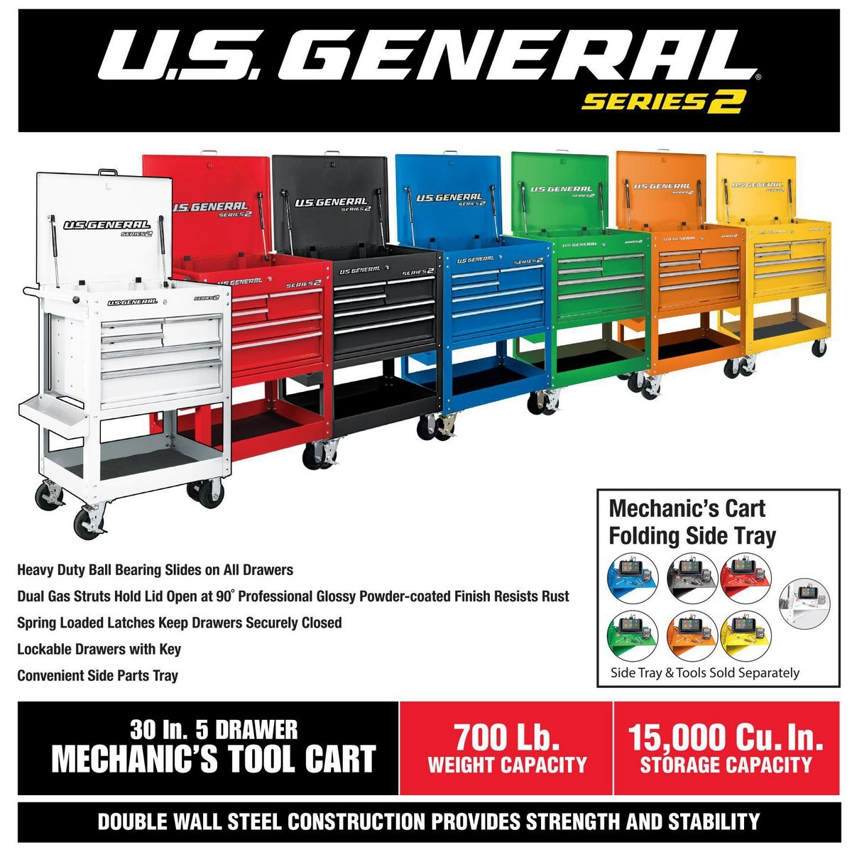 30 in  5 drawer red mechanic u0026 39 s cart