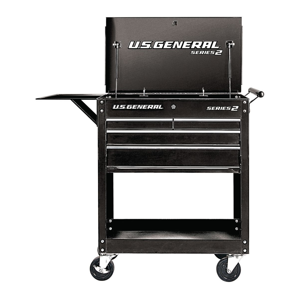 30 In 4 Drawer Black Tech Cart