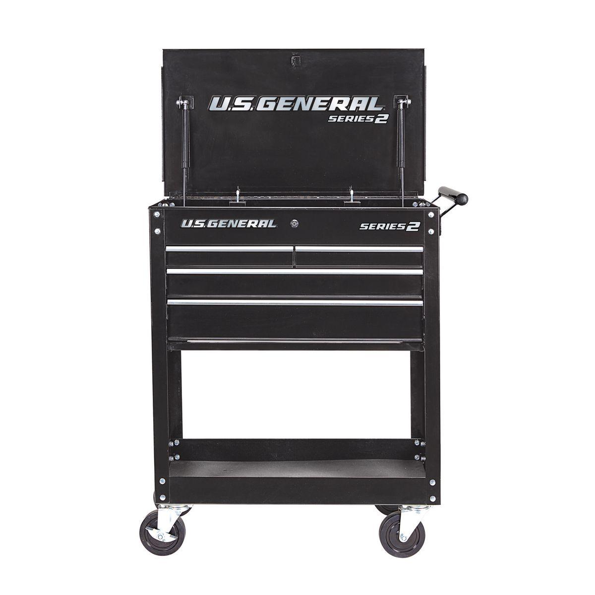 30 In 4 Drawer Black Tech Cart