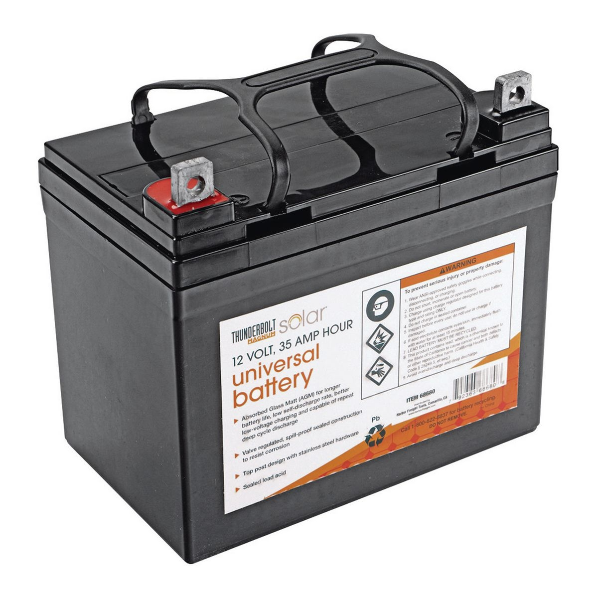 12 volt 35 amp hour sealed lead acid battery. Black Bedroom Furniture Sets. Home Design Ideas