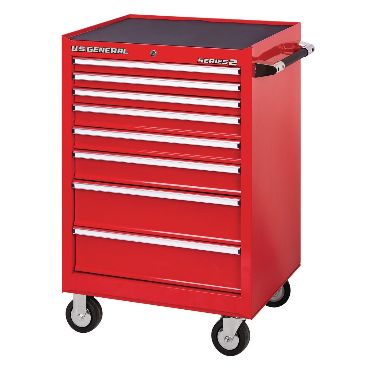 26 In X 22 In Single Bank Red Roller Cabinet