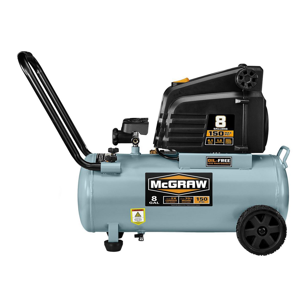 portable air compressor 8 gallon 1 5 hp 150 psi free portable air compressor 10663