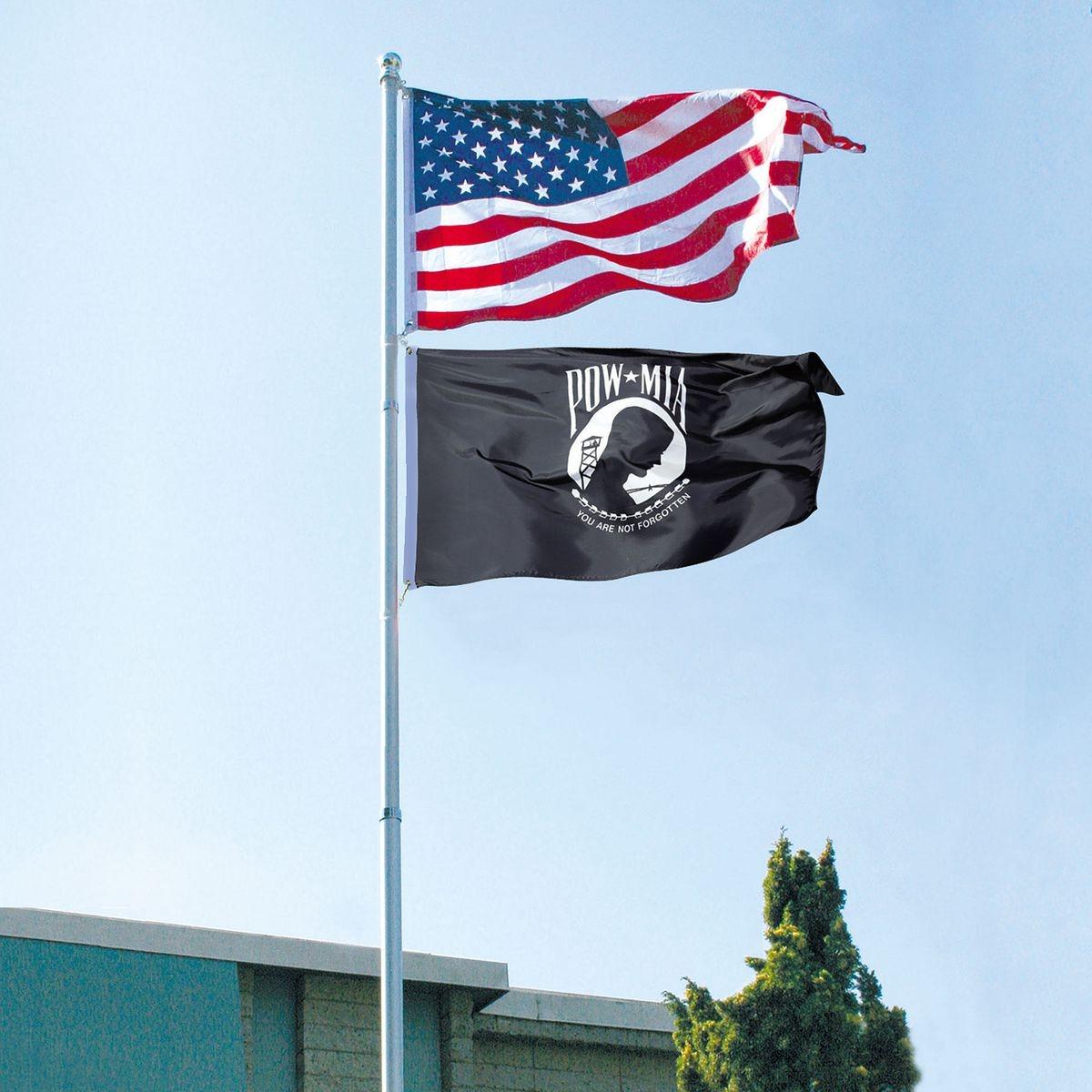 20 Ft  Telescoping Flag Pole Kit