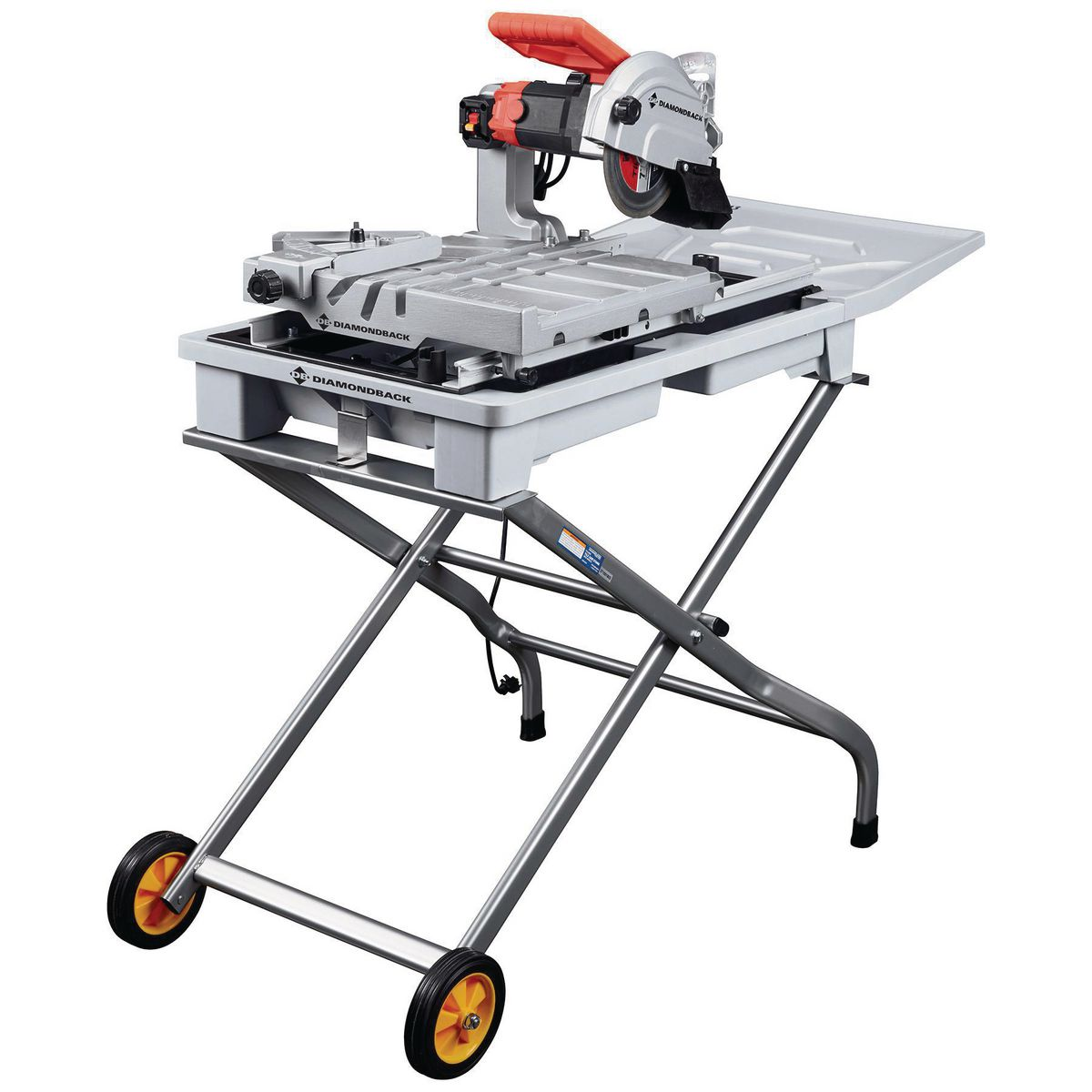 7 In Heavy Duty Wet Tile Saw With Sliding Table
