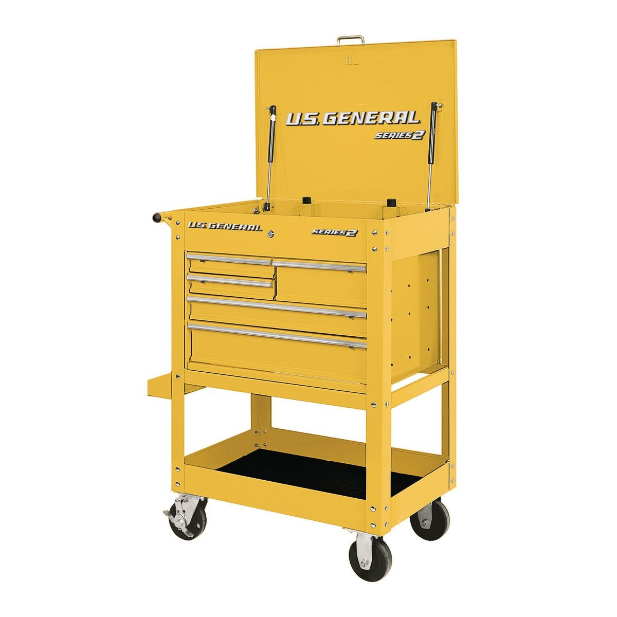 30 in  5 drawer yellow mechanic u0026 39 s cart