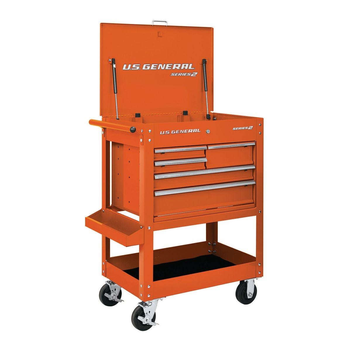 30 In 5 Drawer Orange Mechanic S Cart