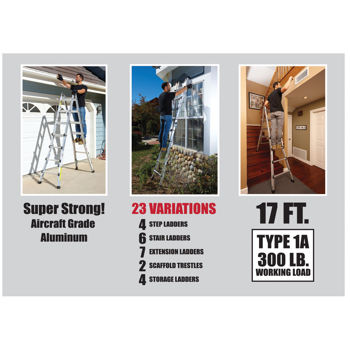 17 Ft Type 1a Multi Task Ladder Folding Ladder System