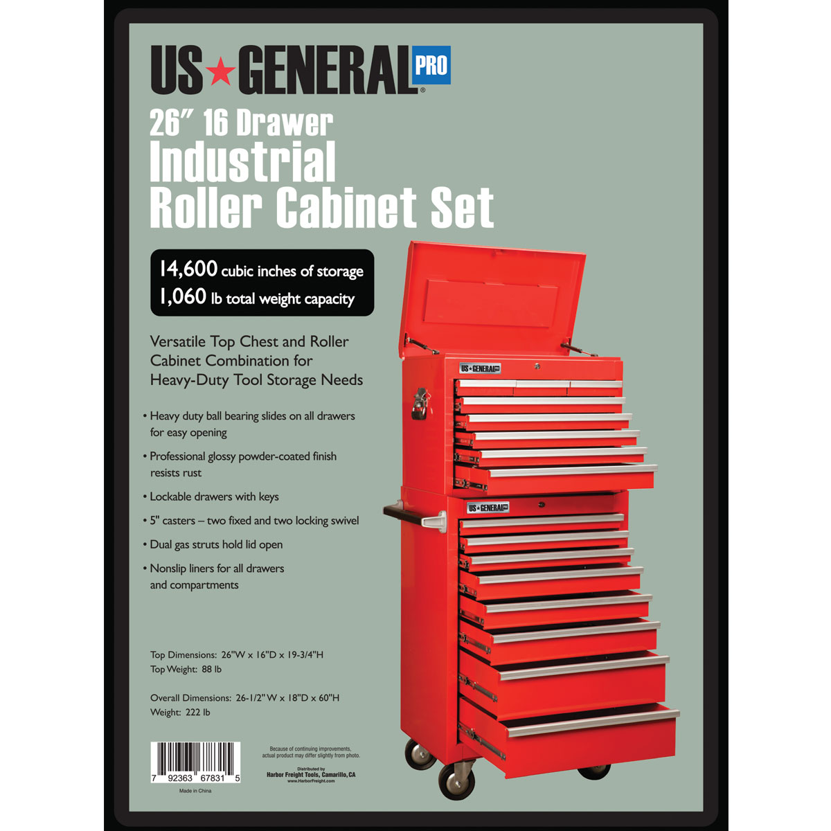 8 Drawer Rolling Tool Cabinet W 8 Drawer Top Chest