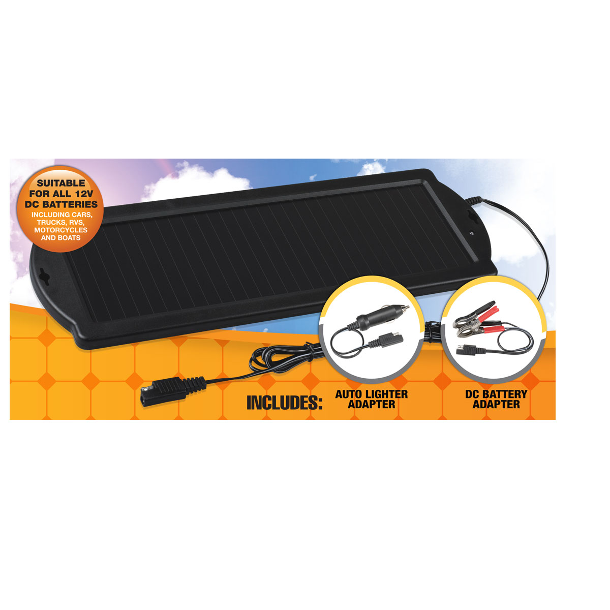 3192995 as well Nature Power Solar Battery Charger Kit Battery Or together with Solar Car Battery Charger additionally Solarland 12v 5 Watt Solar Panel Slp005 12u W also respond. on solar battery trickle charger reviews