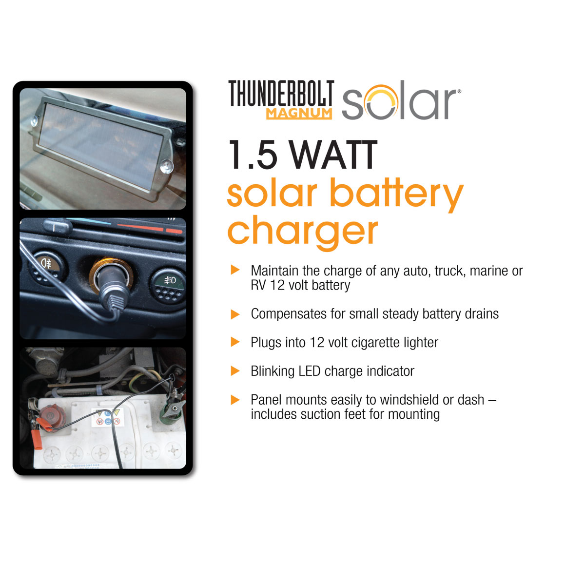 15 Watt Solar Battery Charger Picture Of Charging
