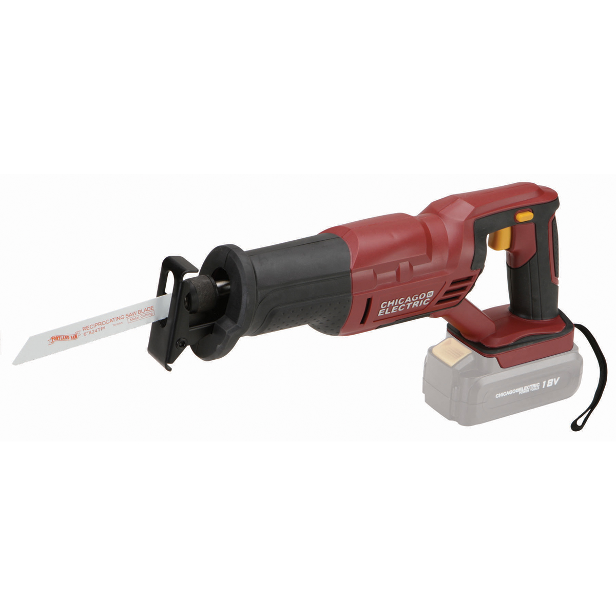 18 volt cordless variable speed reciprocating saw with keyless chuck greentooth