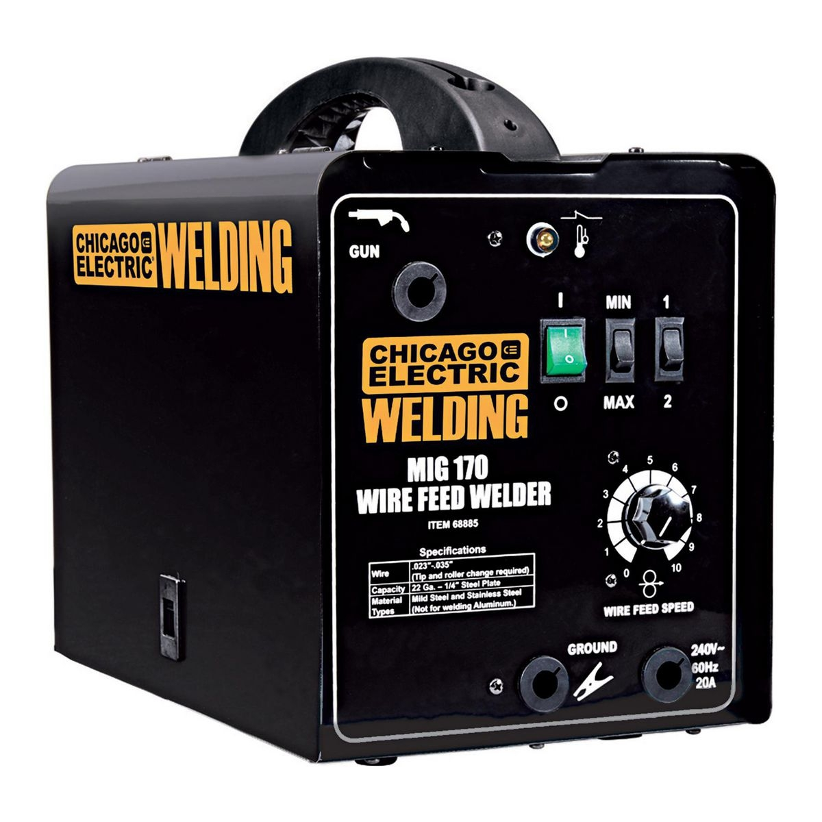 170 Amp-DC, 240 Volt, MIG/Flux Cored Welder on tig welder wiring diagram, mig welder regulator, mig welder fuse diagram, mig 100 welder schematic diagram, capacitive discharge welder wiring diagram, mig welder motor, mig welder switch, mig welder parts, mig welder cover, chicago electric welder wiring diagram, miller welder wiring diagram, mig welder wire, dc welder wiring diagram, arc welder wiring diagram, mig welder cable, mig welder capacitor, 220 welder wiring diagram, mig welder assembly, mig welder valves, hobart welder wiring diagram,