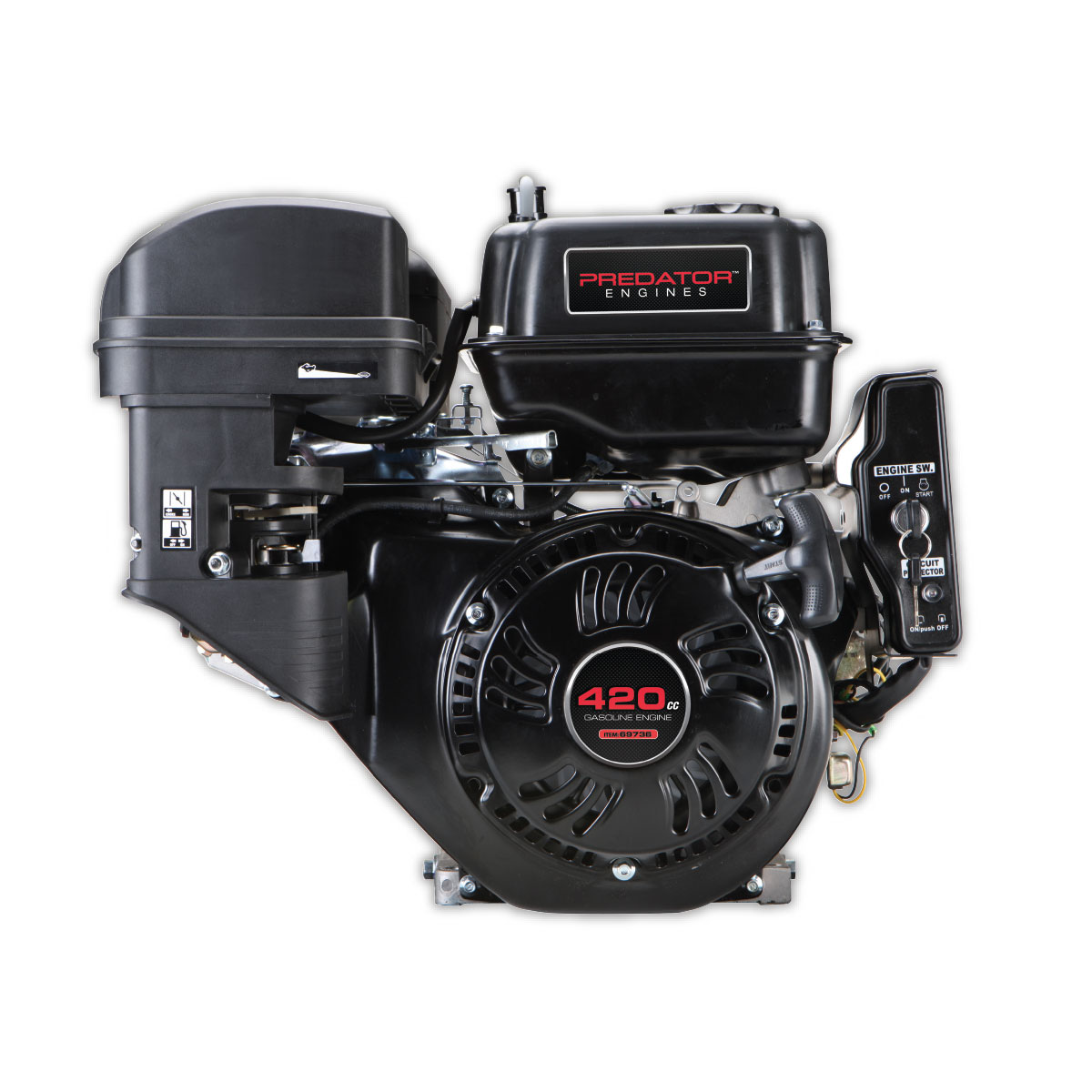 13 hp (420cc) ohv horizontal shaft gas engine epa/carb basic engine diagram vertical shaft