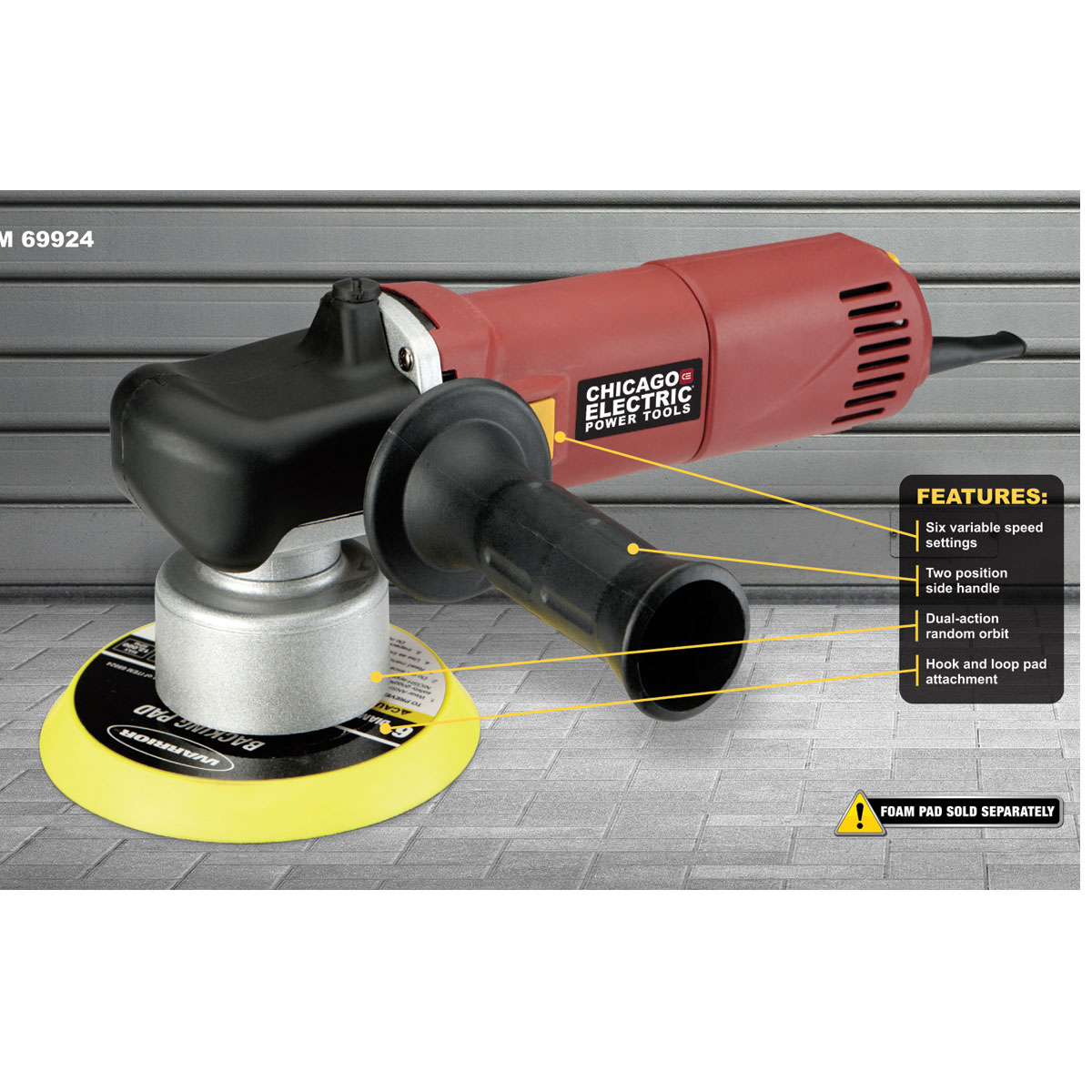 Electric Grinders And Polishers ~ In amp heavy duty dual action variable speed polisher