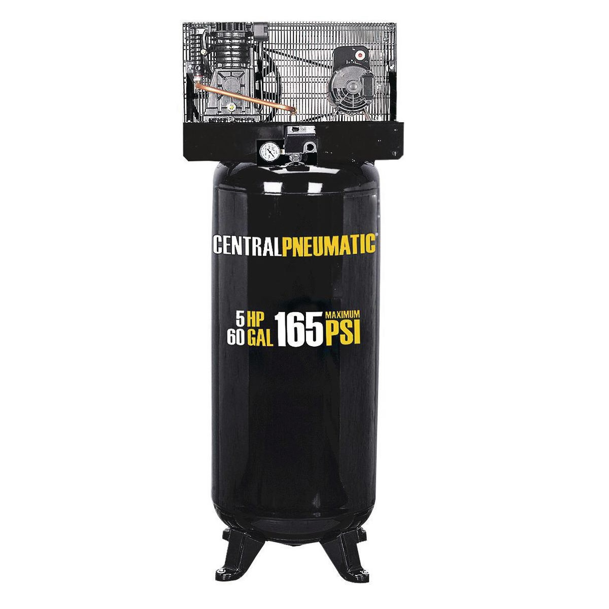 60 Gallon Air Compressor 2 Stage 5 Hp 165 Psi