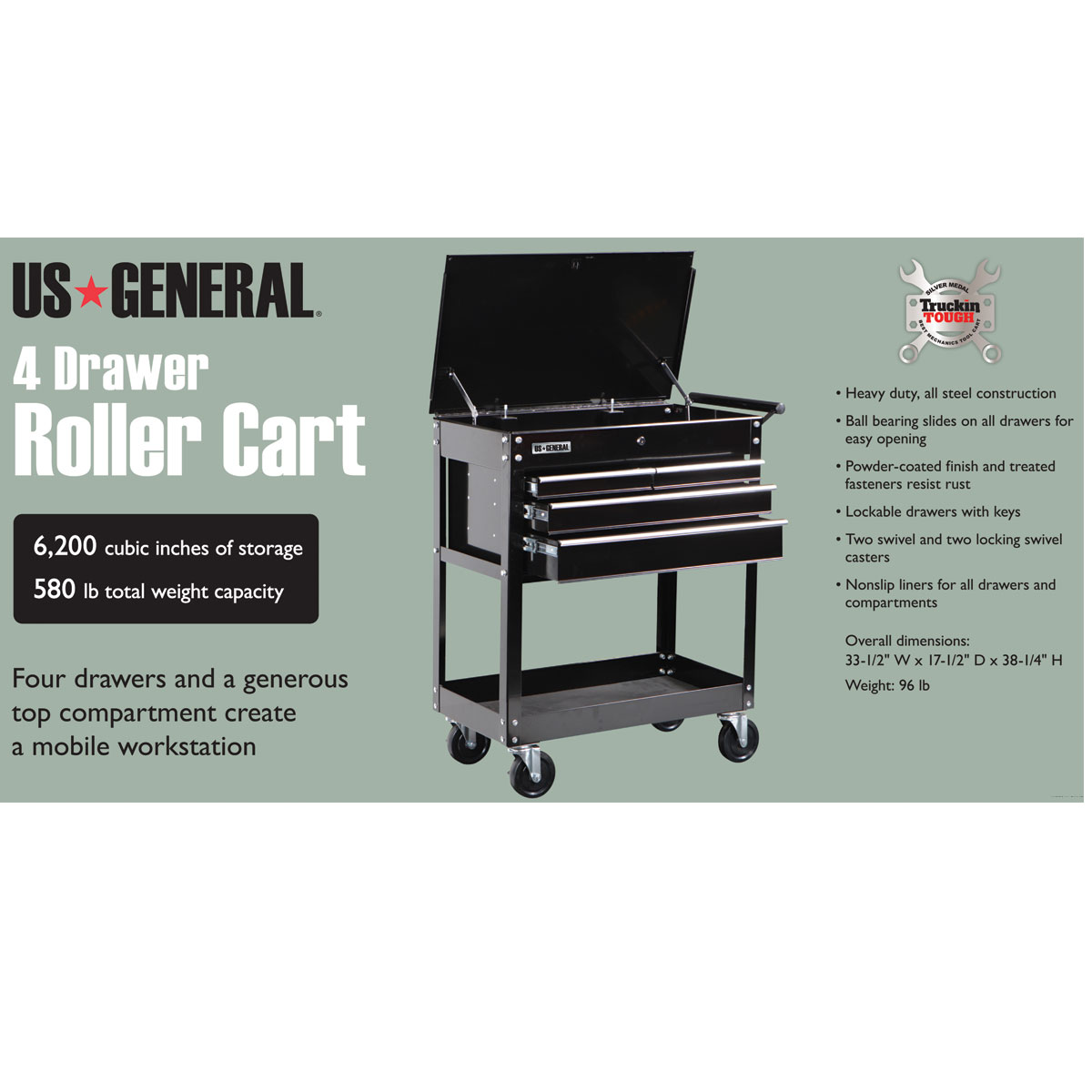 Harbor Freight 5 Drawer Tool Cart : Tool cart on wheels with drawers lb capacity