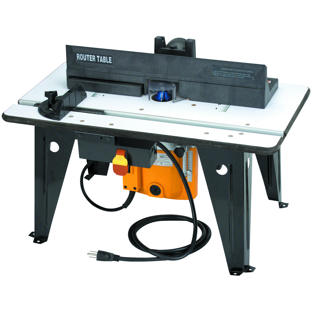 benchtop router table with 1 3 4 hp router