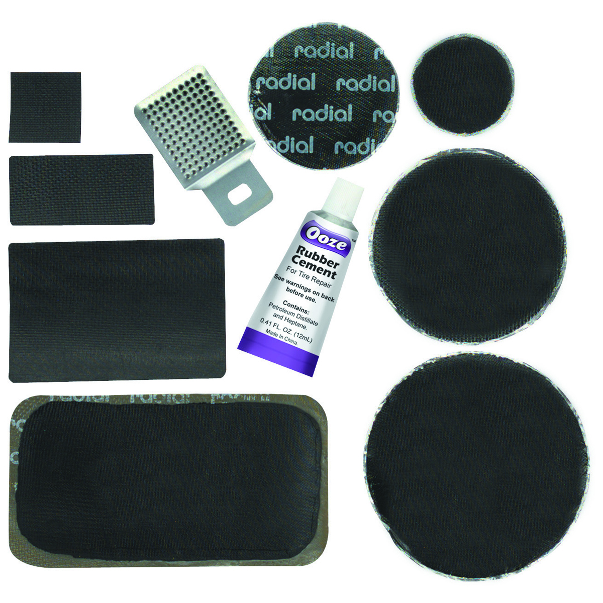 60 Piece Radial Tire Patch Kit