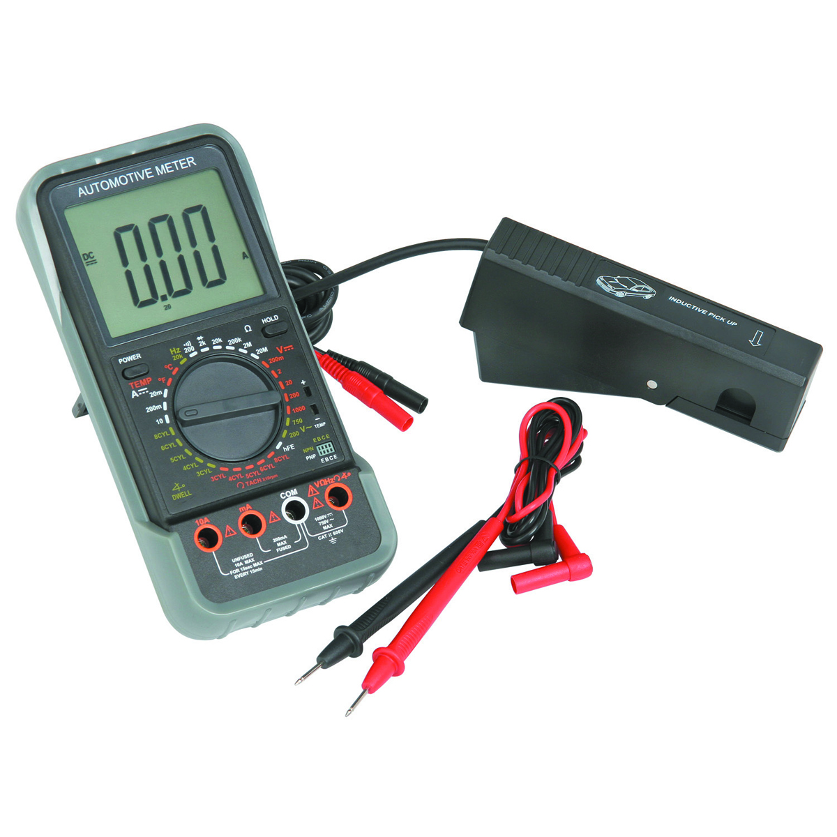 Electronic Measuring Devices For Pickups : Lcd automotive multimeter with tachometer kit