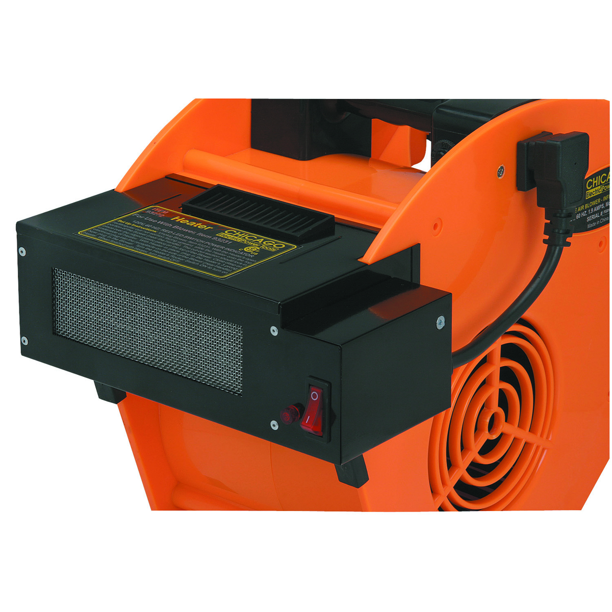Heater Blower Fan : Heater attachment for portable blower