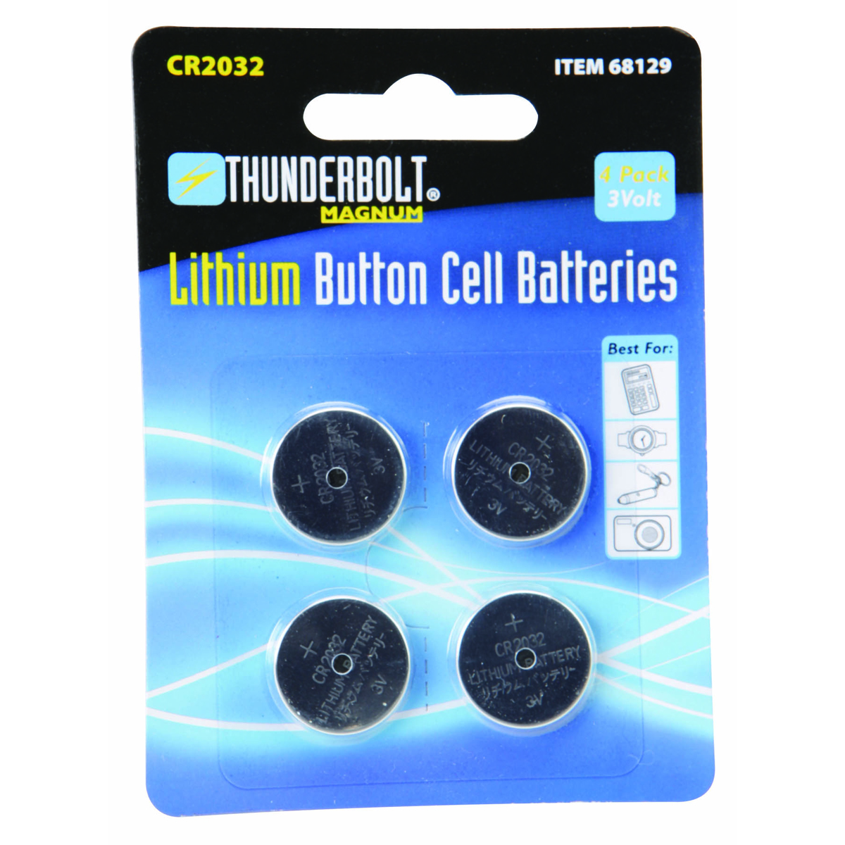 cr2032 lithium button cell batteries 4 pk. Black Bedroom Furniture Sets. Home Design Ideas