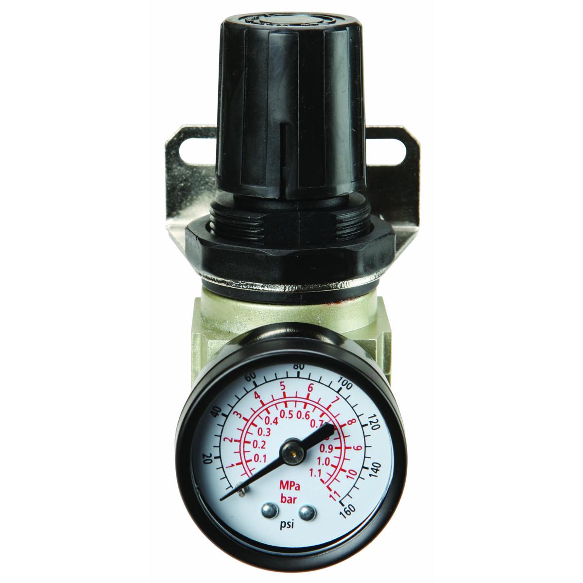 1 4 In Mini Air Regulator With Dial Gauge