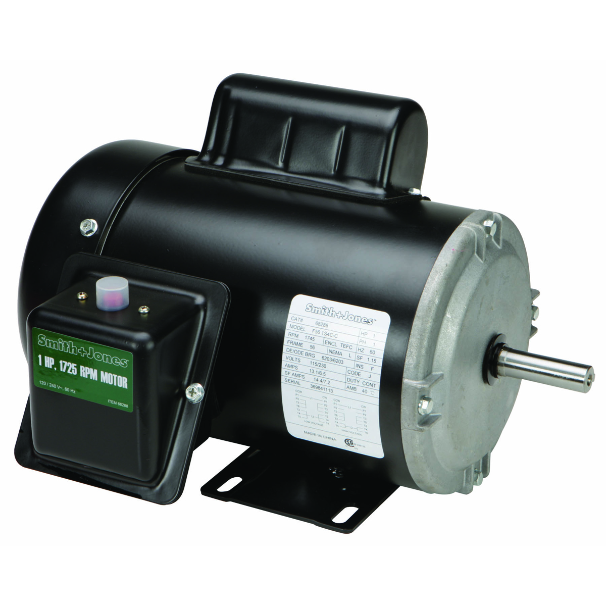 1 hp agricultural farm duty motor for One horsepower electric motor