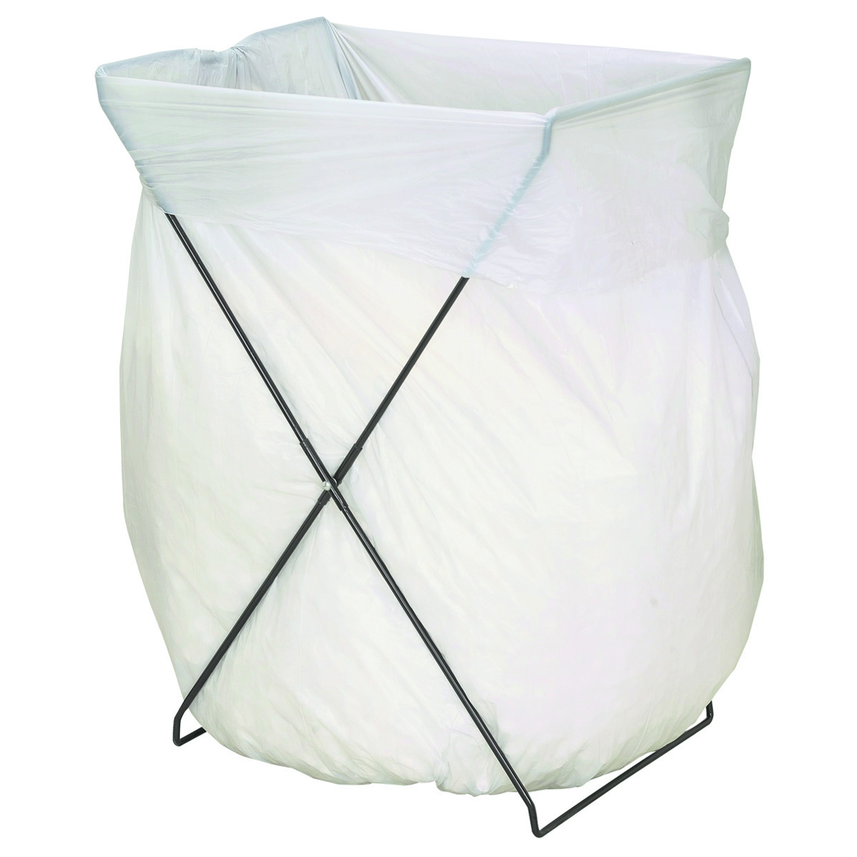 Folding Trash Bag Stand Metal Trash Bag Holder