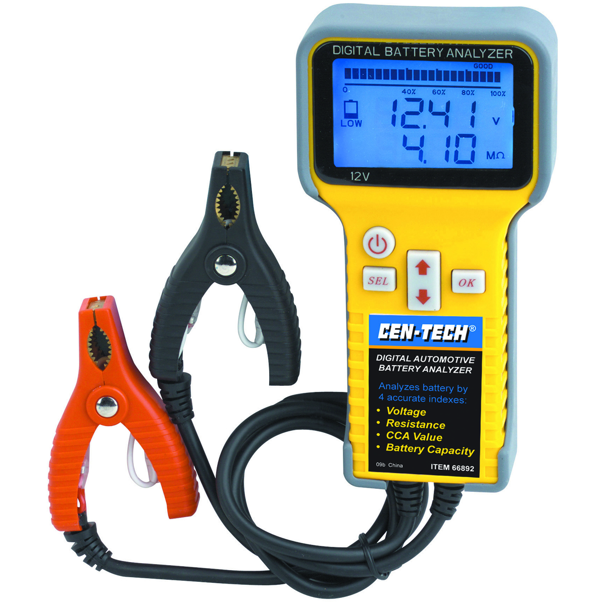 Electronic Battery Tester : Digital automotive battery analyzer