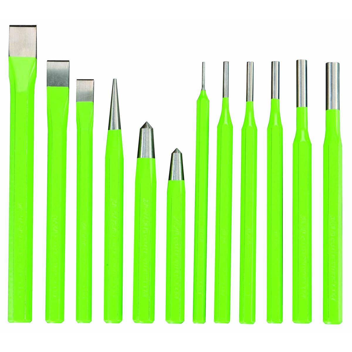 12 Piece Cold Chisel And Punch Set