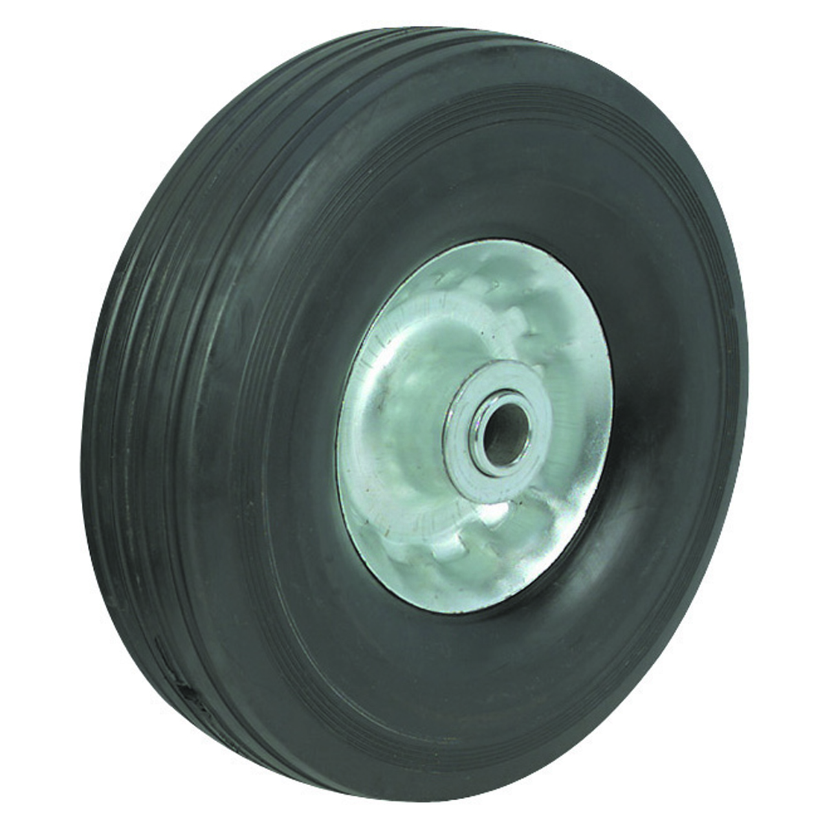 8 Solid Rubber Tire With Zinc Plated Rim